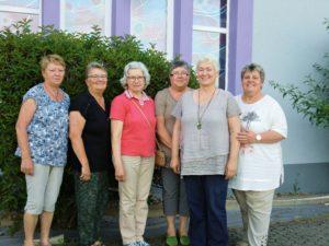 ein Teil des Miteinander-Teams v.l.n.r.: Monika Flick, Margot Hauk, Hildegard Hofmann, Anita Maurer, Doro Ewald, Franziska Sturm