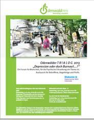 Plakat Trialog 2013 im Odenwaldkreis - Veranstaltungen des Odenwladkreises und des Diakonischen Werkes Odenwald