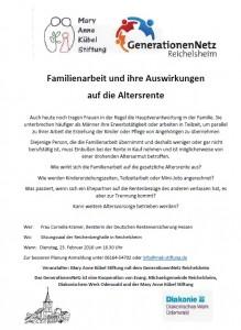 Familienarbeit und Auswirkung auf Altersrente