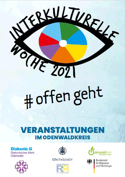 Logo der Interkulturellen Woche 2021 #offen geht